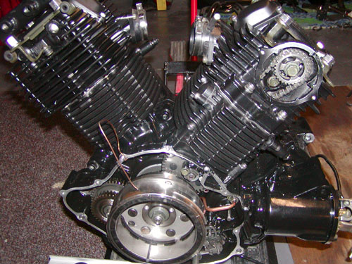 starter clutch replacement rh vstar1100 com 2000 yamaha v star 1100 engine diagram